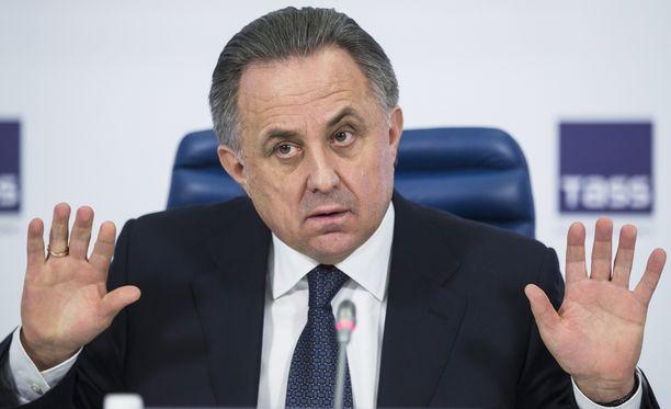 Venäjän urheiluministeri Vitali Mutko on joutunut selittelemään valtavaa dopingskandaalia.