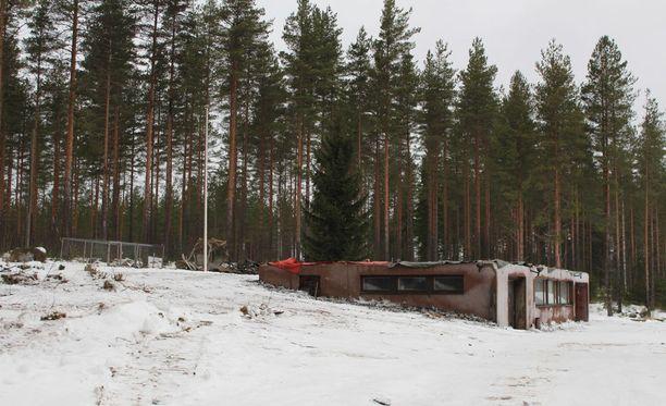 Omakotitalo poltettiin Petäjävedellä 7. marraskuuta 2016.