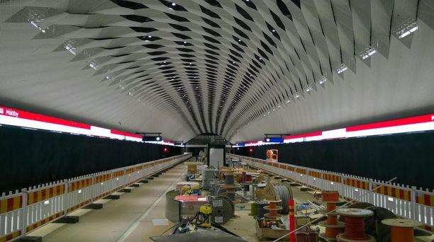 Kuvassa länsimetron Matinkylän asemalaituri viime syyskuussa.