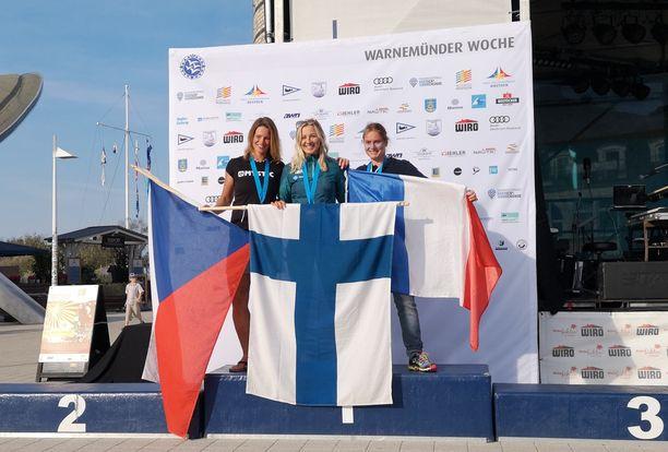 Aleksandra Blinnikka voitti jälleen MM-kultaa.