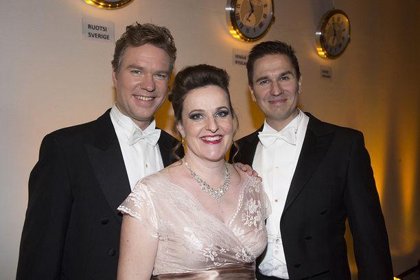 Tänä vuonna Strauss-konsertin solisteina esiintyivät Markus Nieminen, Hedvig Paulig sekä Heikki Halinen.
