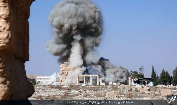 Temppeli räjäytettiin sunnuntaina.