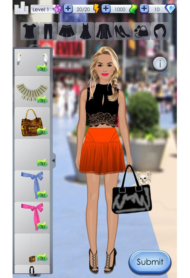 Screenshot World of Fashion -pelistä.