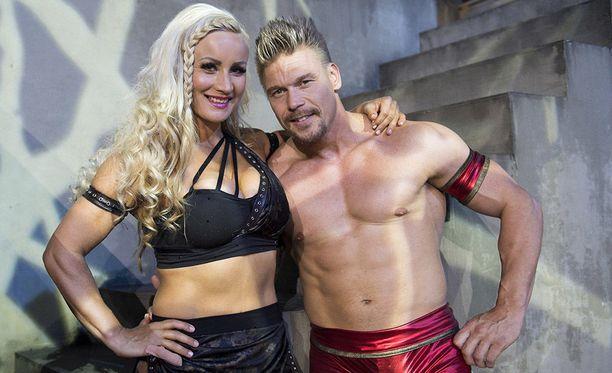Rita ja Aki nähtiin viime syksynä Gladiaattoreissa.