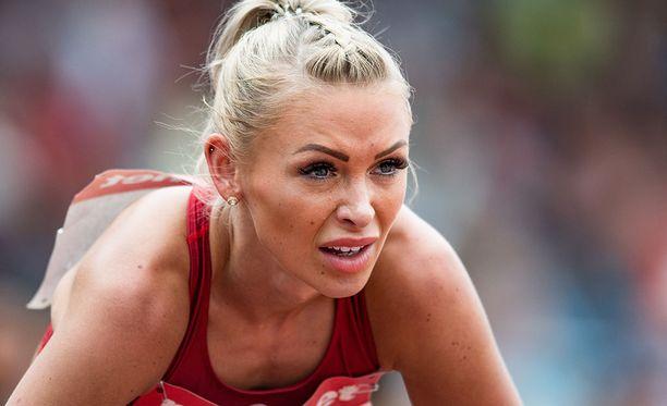 Annimari Korte valittiin edustamaan Suomea 100 metrin aidoissa.