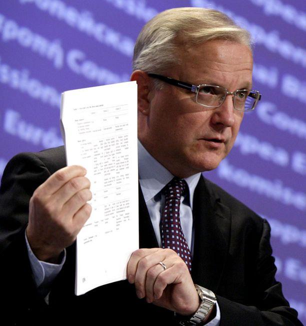 ROHKEITA PÄÄTÖKSIÄ Olli Rehnin mukaan hitaan kiiruhtamisen aika talouskriisissä on nyt ohi.