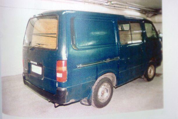 Ruumis kuljetettiin pakettiautolla paikkaan, jota ei vieläkään ole löydetty.