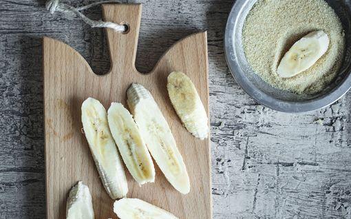 Kokeile ehdottomasti näitä banaaneja! Rapea sokeripinta on mieletön