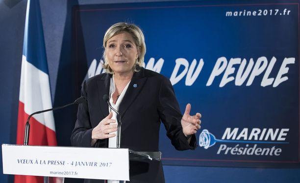 Ranskan presidentinvaalien ensimmäinen kierros käydään 23. huhtikuuta. Marine Le Penin asemaa pidetään hyvänä.