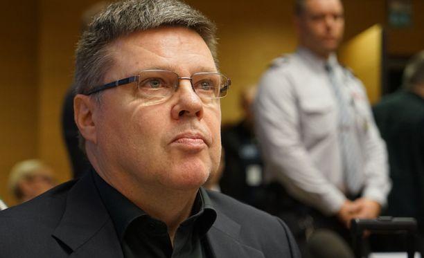 Jari Aarnio oikeudessa tiistaina 16. joulukuuta.