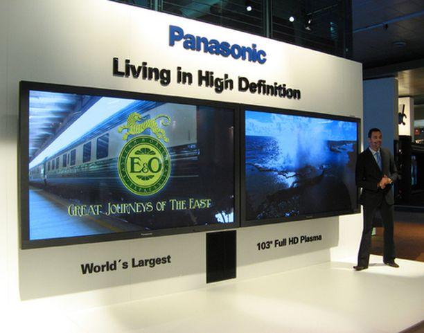 Panasonicilla on maailman suurin full hd-plasmanäyttö.