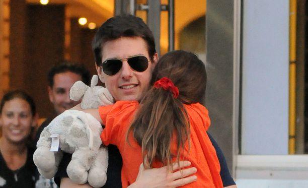 Tom Cruise nähtiin tyttärensä Surin kanssa New Yorkissa vuonna 2012.