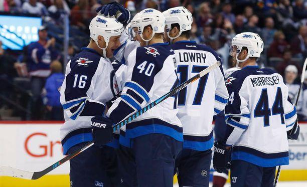 Joel Armia (40) syötti Winnipeg Jetsin 1-0-voittomaalin.
