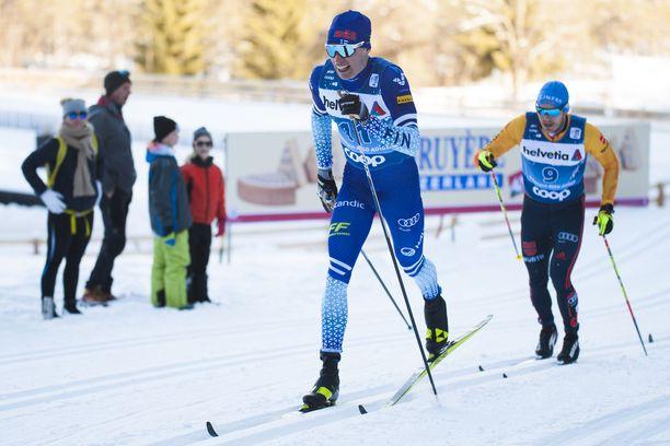 Iivo Niskanen hiihto kolmanneksi keskiviikkona Tour de Skillä.