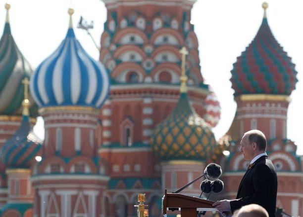 Vladimir Putin korosti puheessaan terrorismin vastaisen taistelun merkitystä.