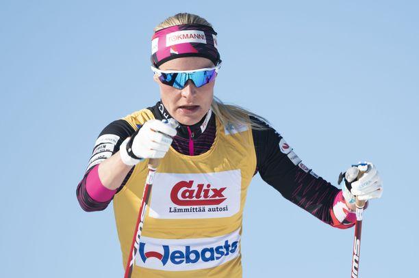 Anne Kyllönen sai paikan hiihdon B-maajoukkueesta.