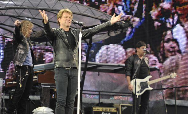 Bon Jovi esiintyi Helsingissä kesäkuussa 2011.