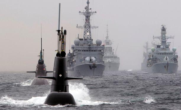 Norjalaissarjassa EU määrää Venäjän valtaamaan Norjan öljykentät. Arkistokuvassa Nato-harjoituksia Norjan rannikolla toukokuulta.