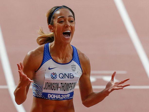 Katarina Johnson-Thompson voitti 7-ottelun MM-kultaa.