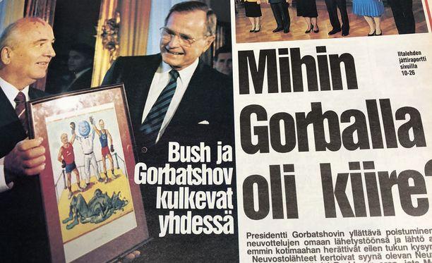 Gorbatsov poistui Helsingistä nopeasti. Helsinki todennäköisesti valikoitui kokouspaikaksi juuri siksi, että kaupungista pääsi tarvittaessa nopeasti Moskovaan.