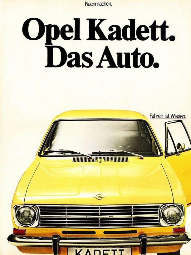 Opel Astran edeltäjä Opel Kadett oli kahdeksan vuoden ajan Das Auto.