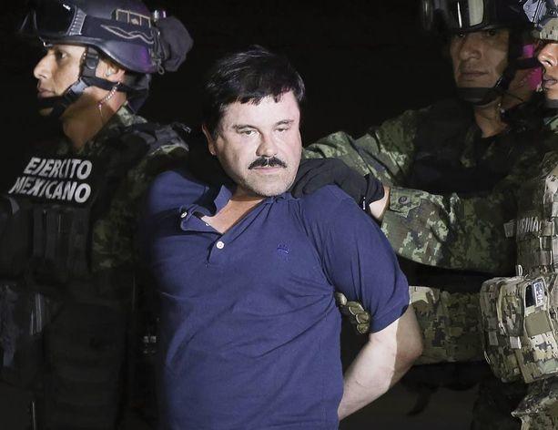 """Joaquin """"El Chapo"""" Guzmanin värikäs vankilapako päättyi tammikuussa."""