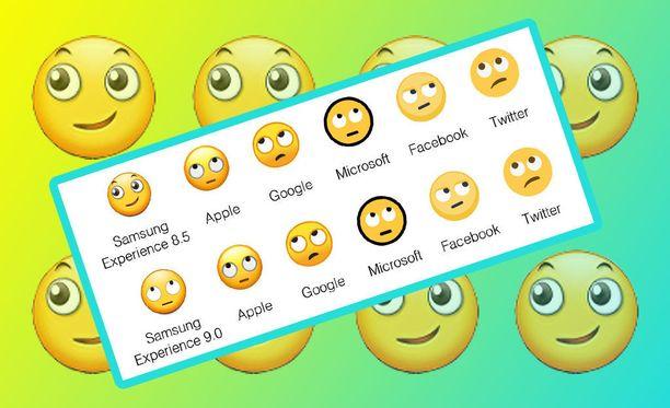 Samsungin silmiä pyörittelevä emoji eroaa paljon muiden vastaavista.