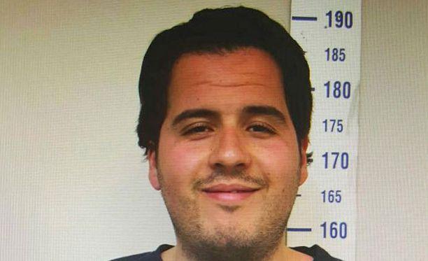 Syyrian rajan tuntumassa Turkissa sijaitsevan Gaziantepin poliisi otti Ibrahim el-Bakraouista kuvan heinäkuussa 2015.