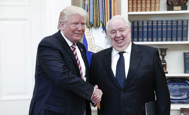Venäjän entinen Yhdysvaltain-suurlähettiläs Sergei Kisljak tapasi Donald Trumpin toukokuussa Valkoisessa talossa.