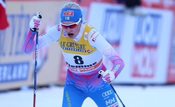 Anne Kyllönen ei kilpaile viikonloppuna Toblachissa.