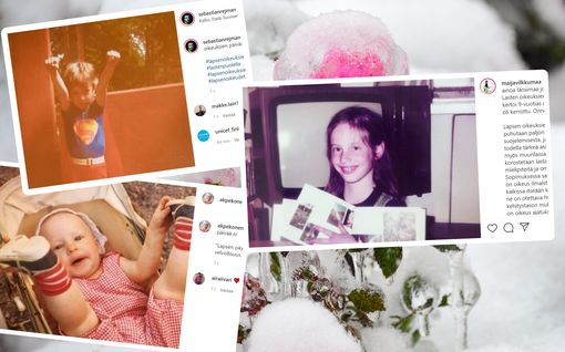 Tunnistatko Suomi-julkkikset lapsuuskuvista? Moni kaivoi nostalgiset kuvat esiin lapsen oikeuksien päivänä