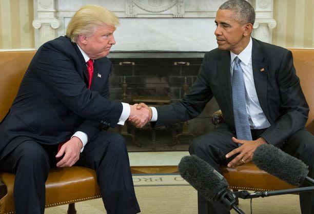 Trump kävi vaalivoiton jälkeen tapaamassa Obamaa.