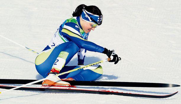 EI MITALIA? Liberecin MM-kisoissa viime talvena loistaneelta Aino-Kaisa Saariselta odotettiin paljon ennen Vancouveria.