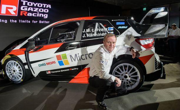 Tommi Mäkinen luotsaa Toyotan takaisin MM-rallipoluille.