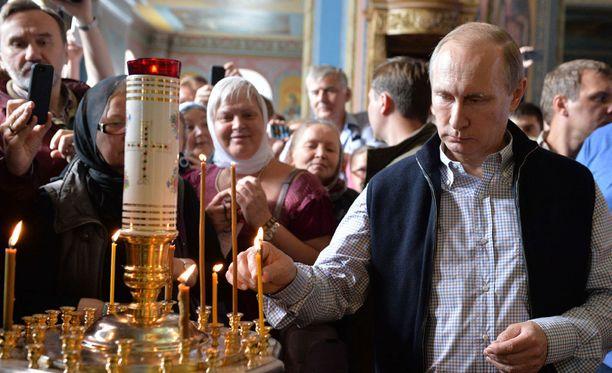 Venäjän presidentti Vladimir Putin osallistui Valamossa jumalanpalvelukseen ja illalliselle.