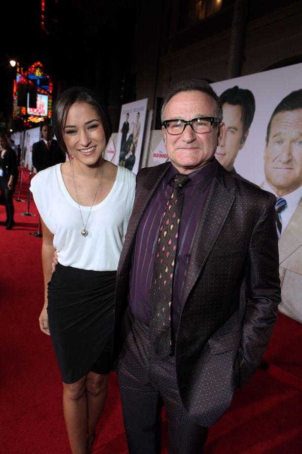 Zelda Williams ja Robin Williams marraskuussa 2009.