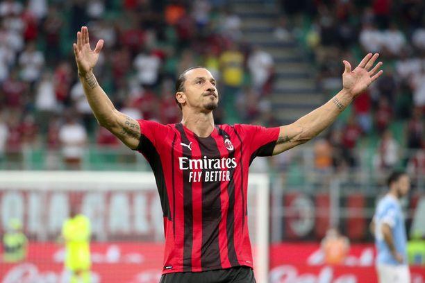 """""""Ibrahimović ei koskaan vanhene"""", kommentoi Milanin valmentaja Stefano Pioli ottelun jälkeen."""