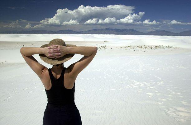 White Sandsin kansallispuistoa peittää hieno, valkea hiekka.
