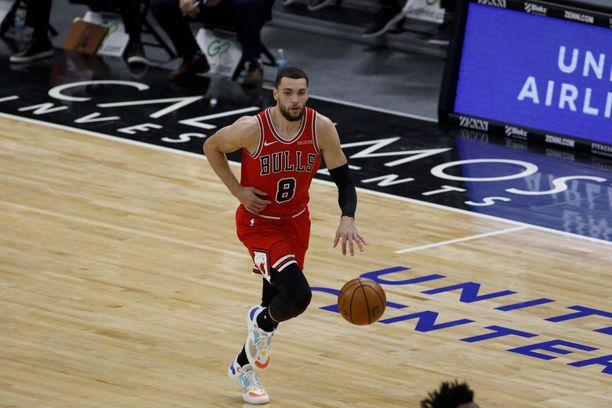 Zach LaVine on ollut Chicago Bullsin ylivoimainen ykköspelaaja tällä kaudella.