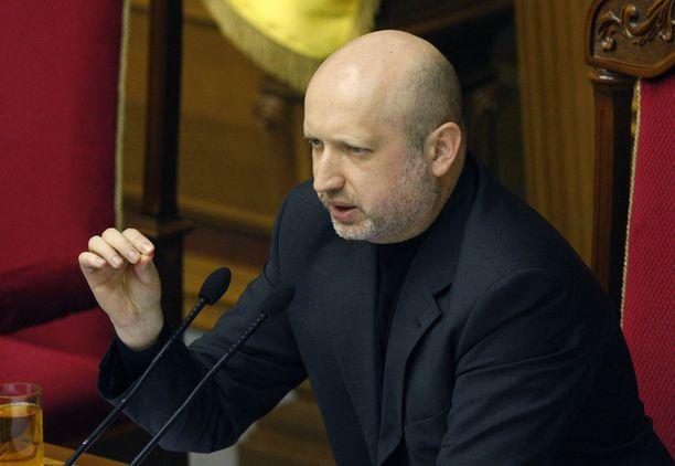 Oleksandr Turtšynov toimi Ukrainan väliaikaisena presidenttinä ja parlamentin puhemiehenä vuonna 2014.
