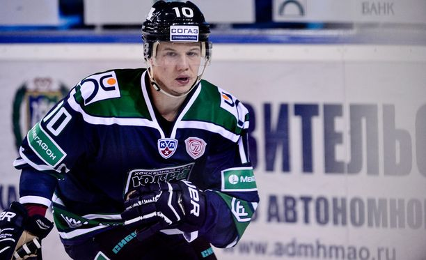 Toni Rajala pelasi viime kaudella KHL:ssä Yugran riveissä.