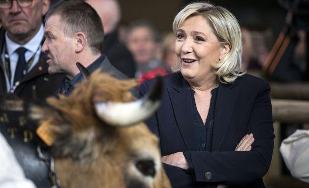 Ranskan eurovaalisuosikki Marine Le Pen kuuluu maansa kansallismielisiin ehdokkaisiin.