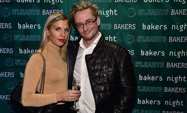 Emilia Poikkeus ja Mikael Jungner edustivat yhdessä vielä vuonna 2015.