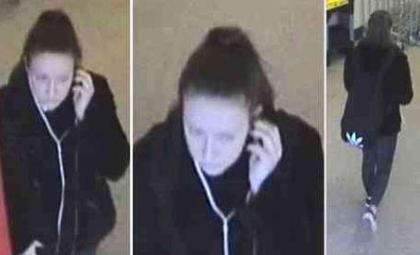 Poliisi julkaisi Nathaliesta kuvia, jotka on otettu Eksjön keskustassa juuri ennen kun hänen oli määrä nousta junaan.