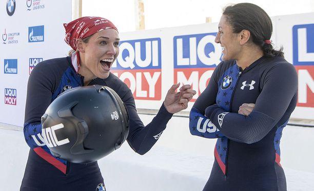 Lolo Jones kisasi Sotshin talviolympialaisissa.