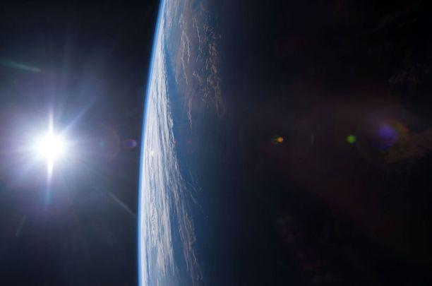 Auringonlasku Meksikonlahdella.
