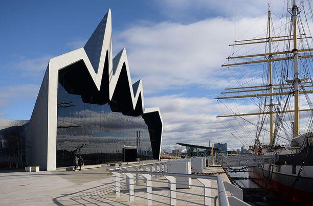 Riverside Museum Glasgowssa Skotlannissa.