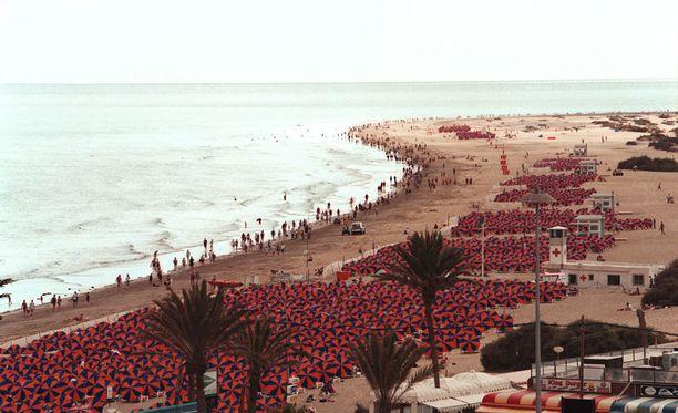Kuvituskuva Playa del Inglésin hiekkarannasta.