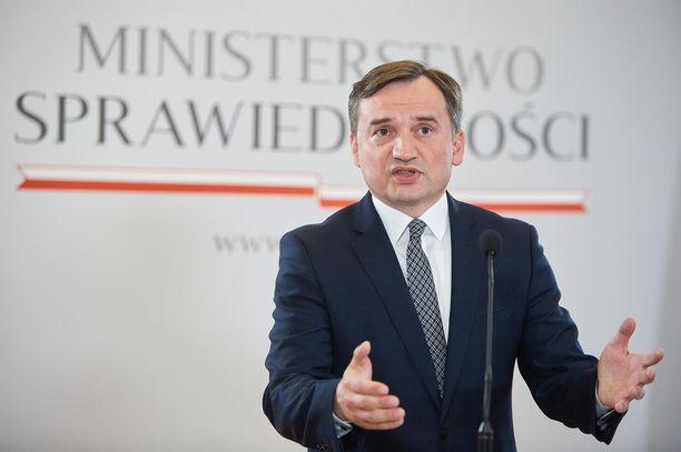Puolan oikeusministeri Zbigniew Ziobro.