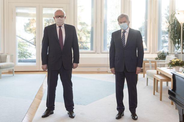 Presidentti Niinistö ja Venäjän varaulkoministeri Sergei Rjabkov.